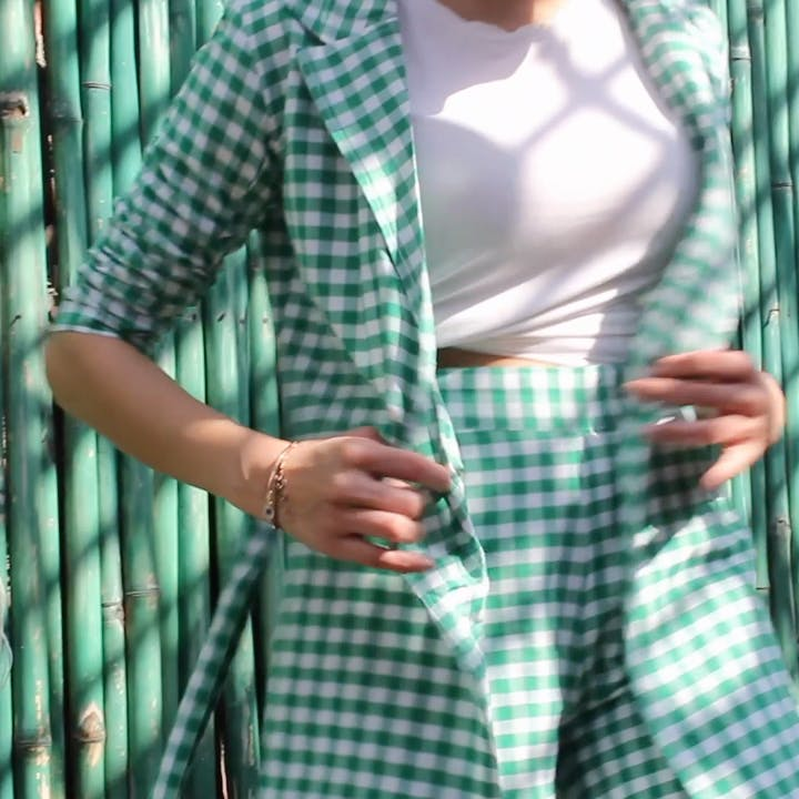 image - Hassle Free Dressing Never Looked Better: Cart This Gingham Co-Ord Set Stat