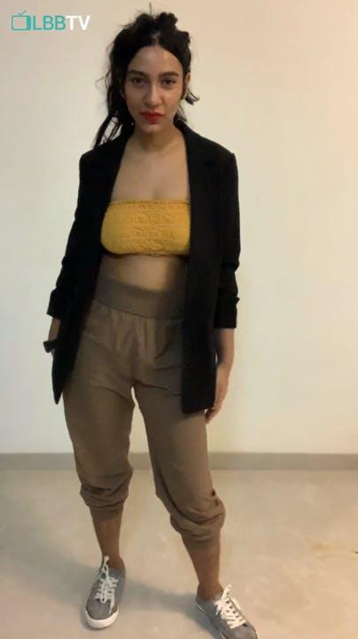 Clothing,Shoulder,Waist,Yellow,Abdomen,Fashion,Trunk,Joint,Leg,Thigh