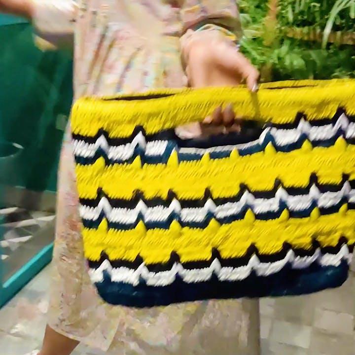 Handcrafted Multicolour Pattern Handbag
